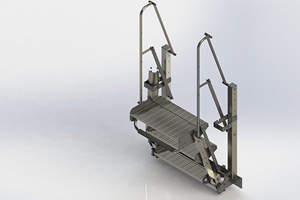 Scale pieghevoli Zipfluid: Sistemi di prevenzione cadute