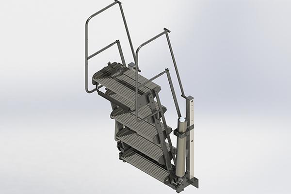 Standard Folding Stairs - Zipfluid