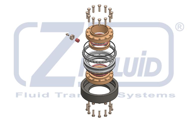 Snodi e tenute tra i componenti dei bracci di carico e scarico Zipfluid