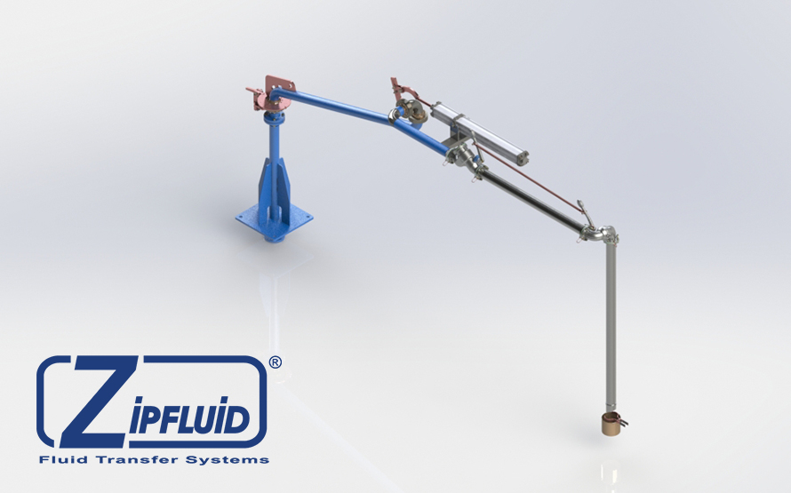 Zipfluid loading and unloading arms for food&beverage: Glycerine