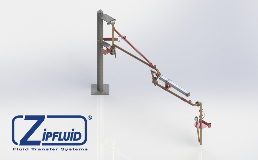 Zipfluid loading and unloading arms for food&beverage: Lanolin