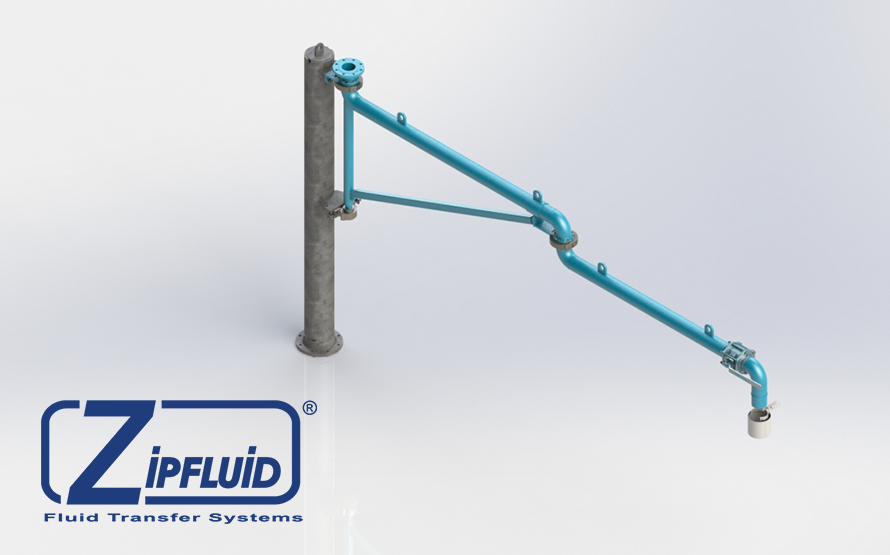 Zipfluid loading and unloading arms for food&beverage:  Tallow