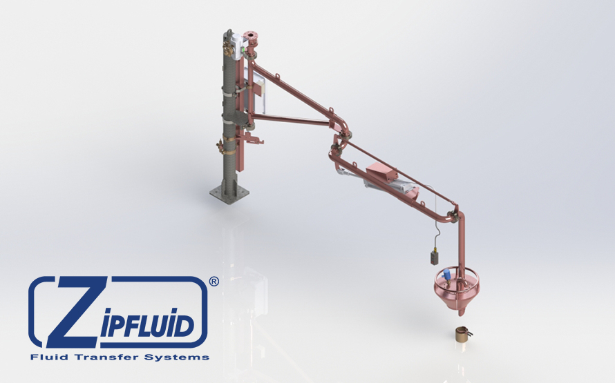 Zipfluid loading and unloading arms for food&beverage: Wine