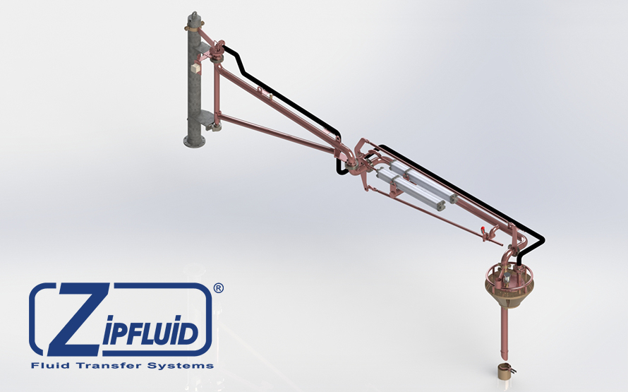 Zipfluid loading and unloading arms for basic chemicals: Acrylic acid
