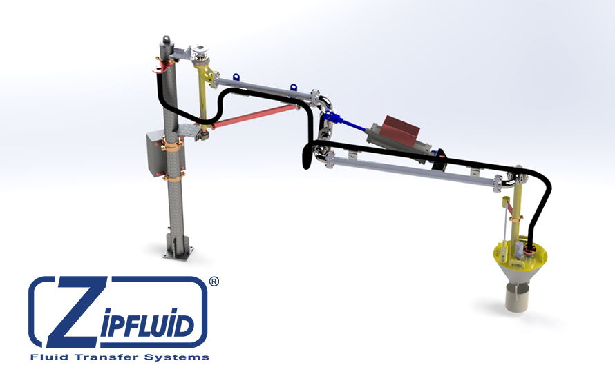 Zipfluid loading and unloading arms for chemicals: hydrochloric Aci