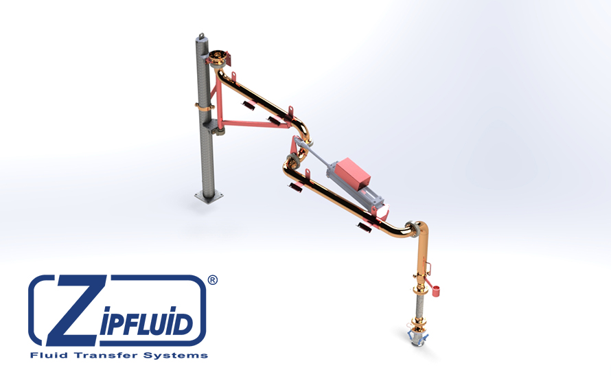 Zipfluid loading and unloading arms for chemicals: Sulphuric Acid
