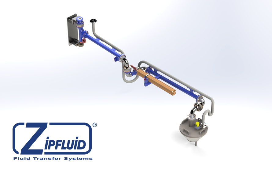 Zipfluid Loading Arms for Sodium Hypochlorite