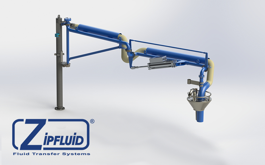 Zipfluid Loading Arms for plastic pellets